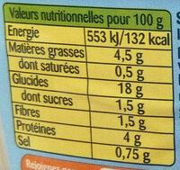 Riz à la provençale au Thon et Basilic - Nutrition facts
