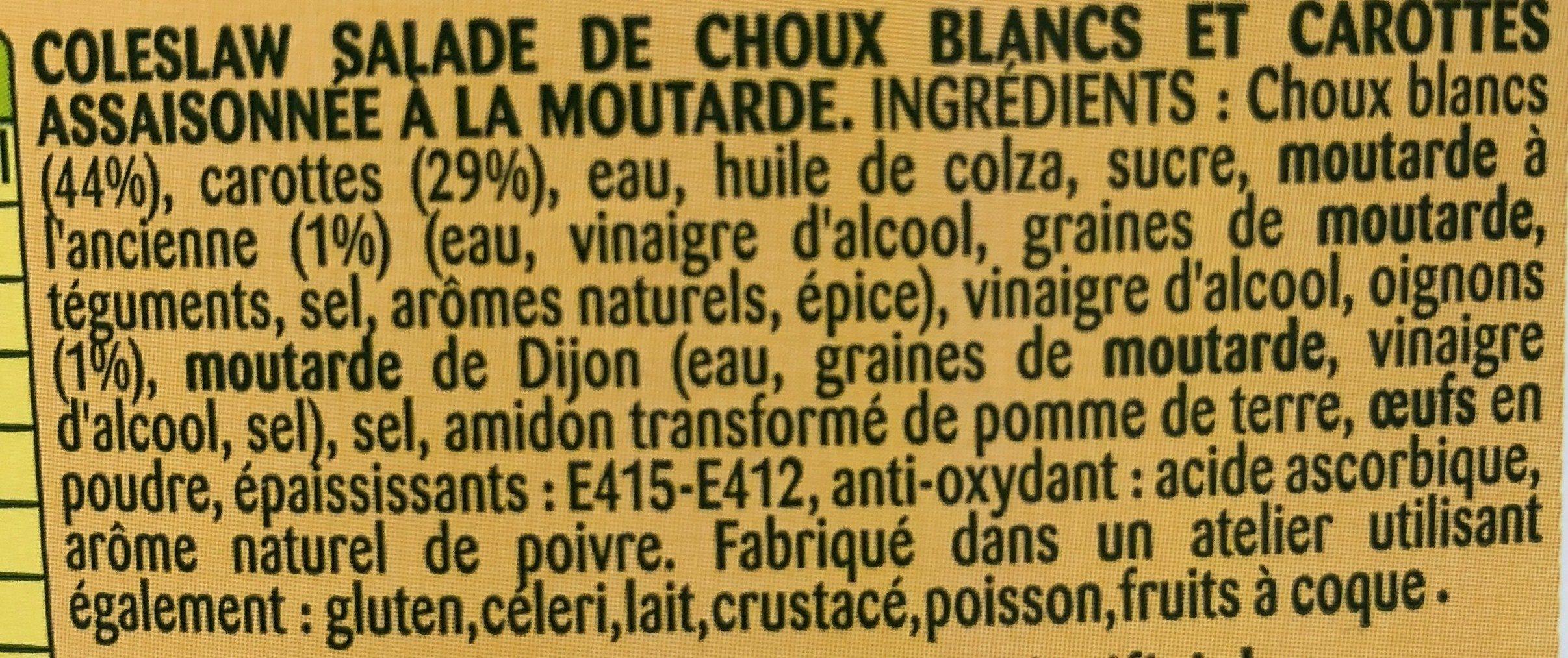 Coleslaw à la moutarde à l'ancienne - Ingrédients - fr