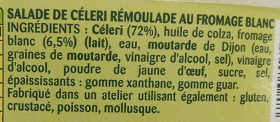 Céleri remoulade au fromage blanc - Ingredients - fr