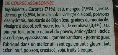 Carotte - Ingrediënten