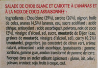 Coleslaw Ananas & Noix de coco - Les Créatives - Ingredients - fr