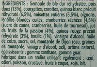 Duo quinoa pois doux - Ingrédients