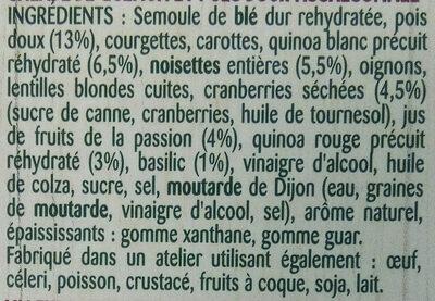 Duo quinoa pois doux - Ingrediënten - fr