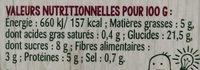 Duo quinoa pois doux - Voedingswaarden - fr