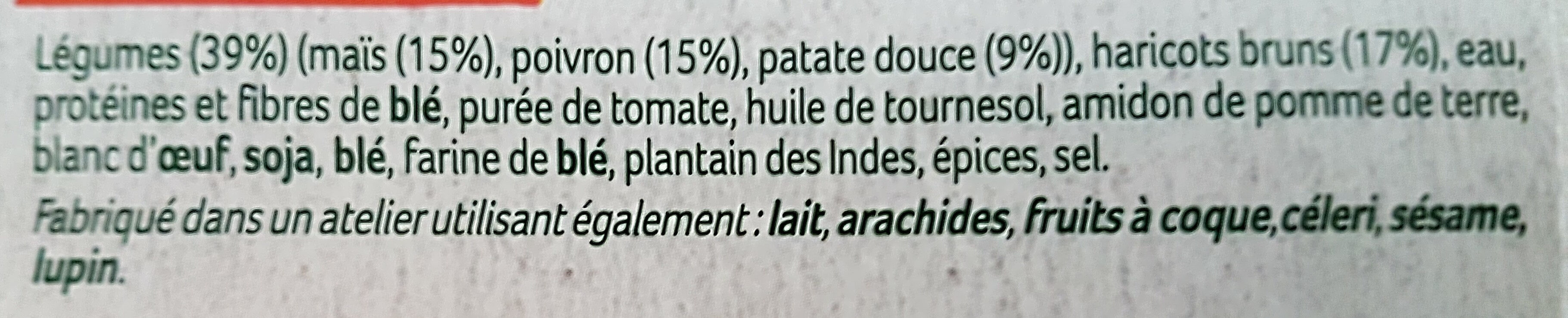 2 pavés Veggissi - Ingredients