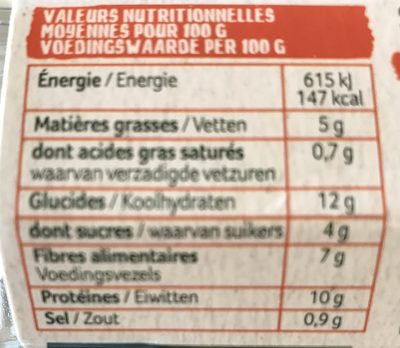 2 pavés Veggissi - Nutrition facts