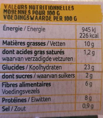9 boulettes préfrites et précuites - Informations nutritionnelles