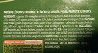 Pavé croustillant légumes du soleil - Ingrédients