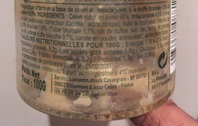 CÉLERI - Ingrediënten