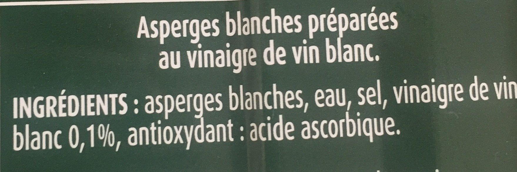 Asperges blanches - Ingredients - fr