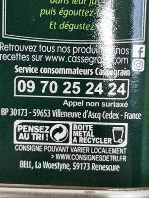 Haricots Verts extra-fins - Istruzioni per il riciclaggio e/o informazioni sull'imballaggio - fr