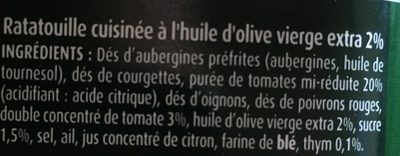 Ratatouille - Ingredients - fr