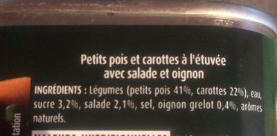 Petits Pois et Carottes - Ingredienti - fr