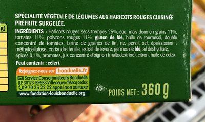 VeggissiMmm! Pavé Moelleux - Ingrédients