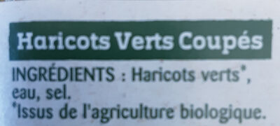 Haricots Verts Bio Légumes 100% Français - Ingredienti - fr