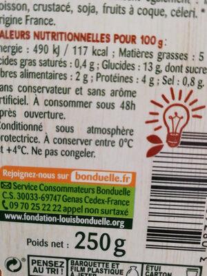 Carotte & Boulghour butternut et poulet rôti - Nutrition facts