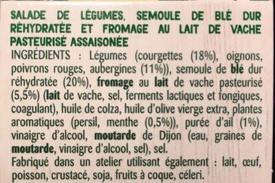 Courgettes & couscous en semoule - Ingredients