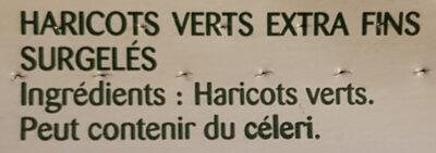 Le Haricot Vert Extra-fin Sans Résidu de Pesticides - Ingredienti - fr