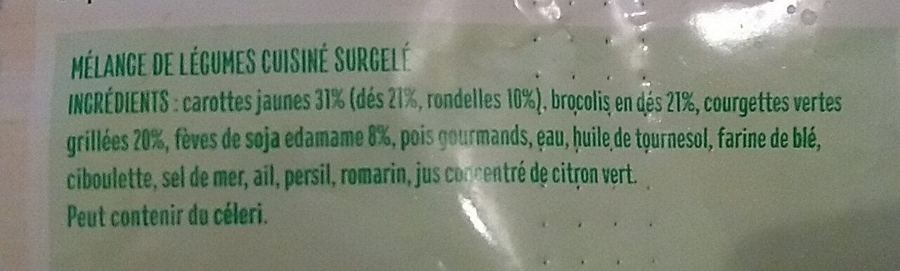 La poêlée du marché - Ingrédients - fr