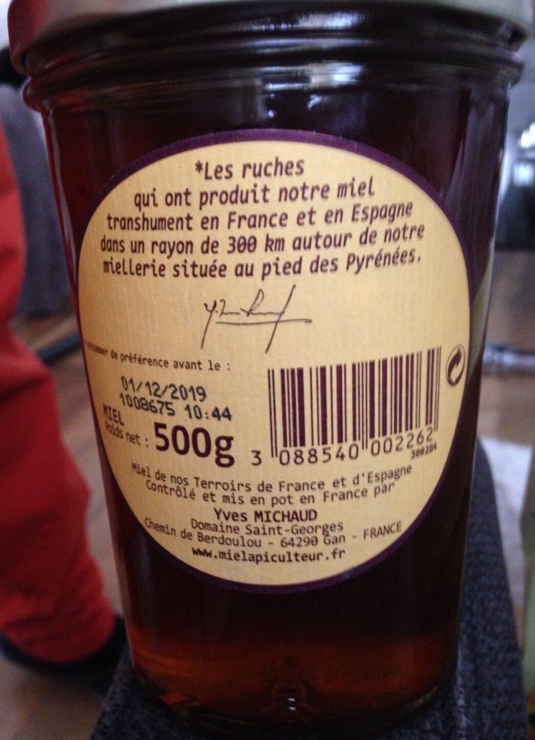 Miel l'apiculteur de nos terroirs - Ingrediënten - fr