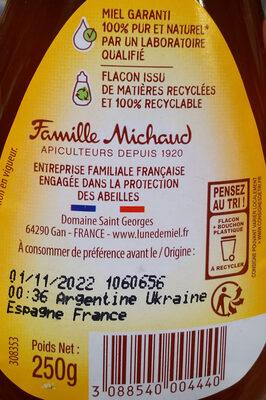 Tartimiel - Ingredients - fr