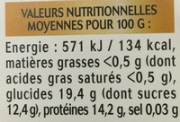 Pure Gelée Royale Biologique - Nutrition facts - fr