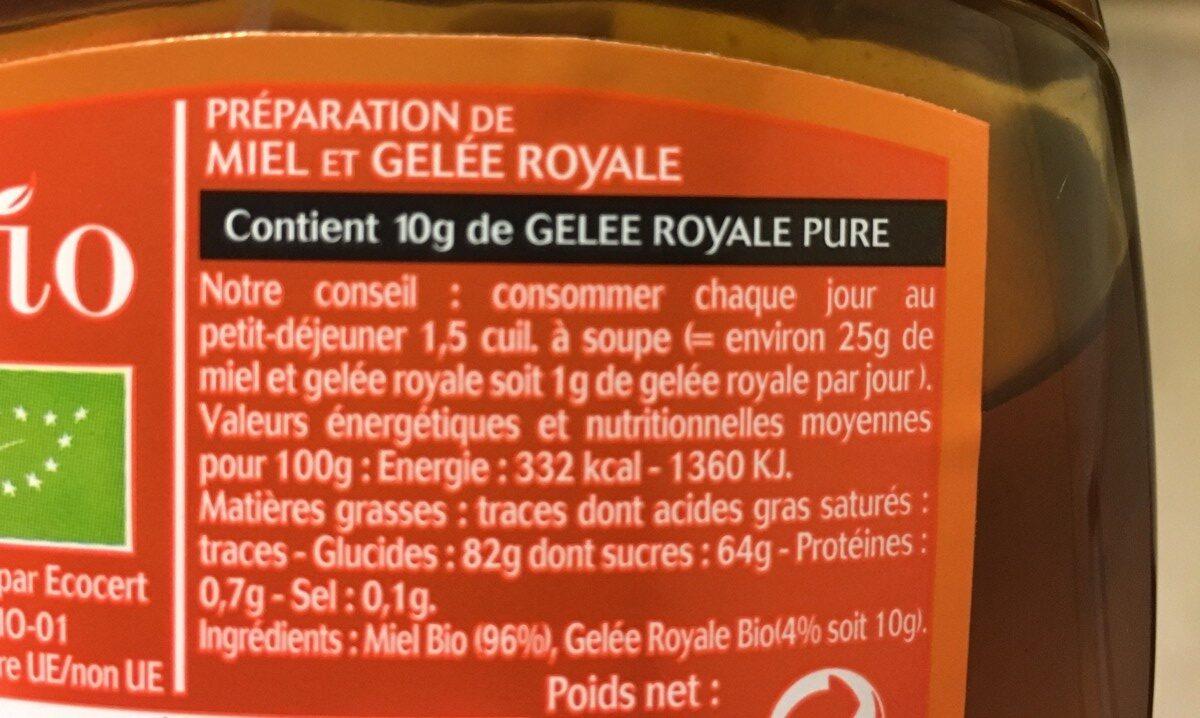 Miel et Gelée Royale - Ingredients