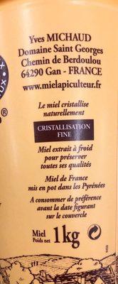 Miel - Ingrediënten - fr