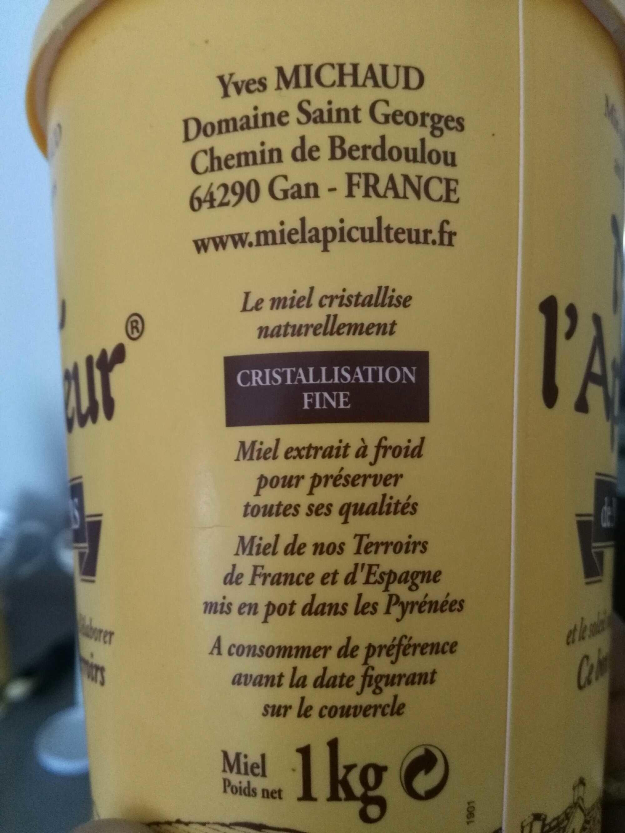 Miel l'Apiculteur - Fleurs de France - Ingredients - fr