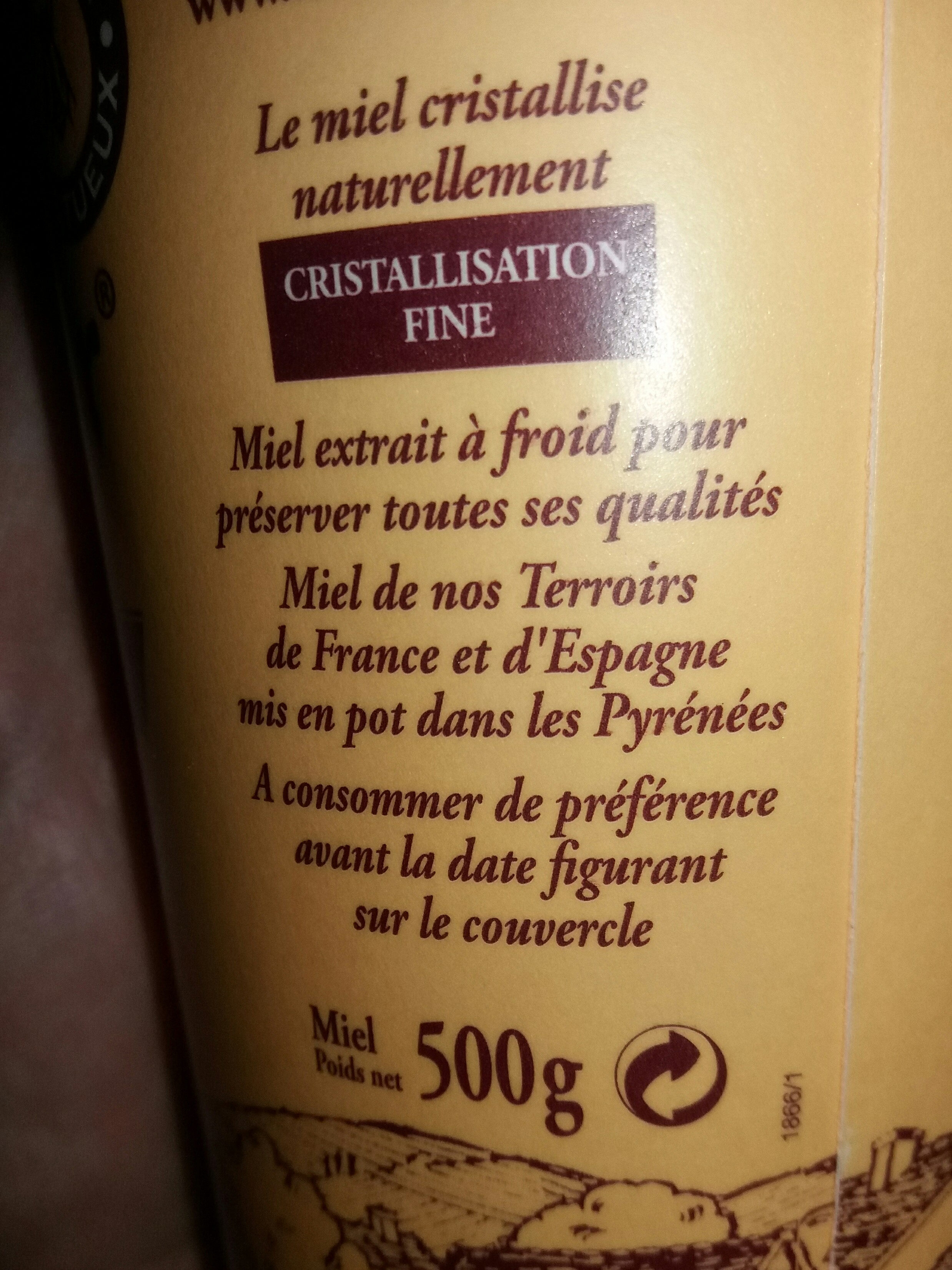 Miel l'apiculteur - Ingrediënten - fr