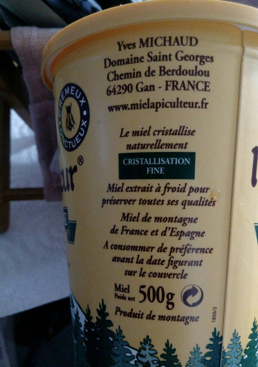 Miel - Ingredienti - fr