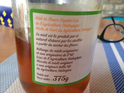 Miel liquide - Informations nutritionnelles - fr