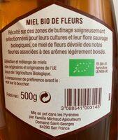 Miel bio de fleurs - Ingrediënten