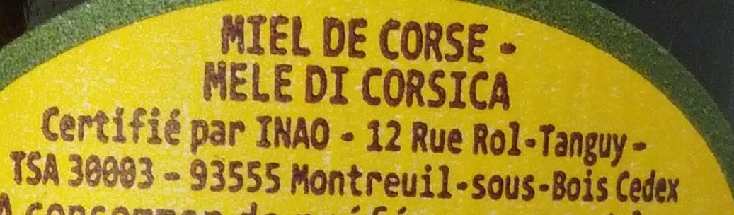 Miel L'Apiculteur Miel de Corse - Ingredients - fr