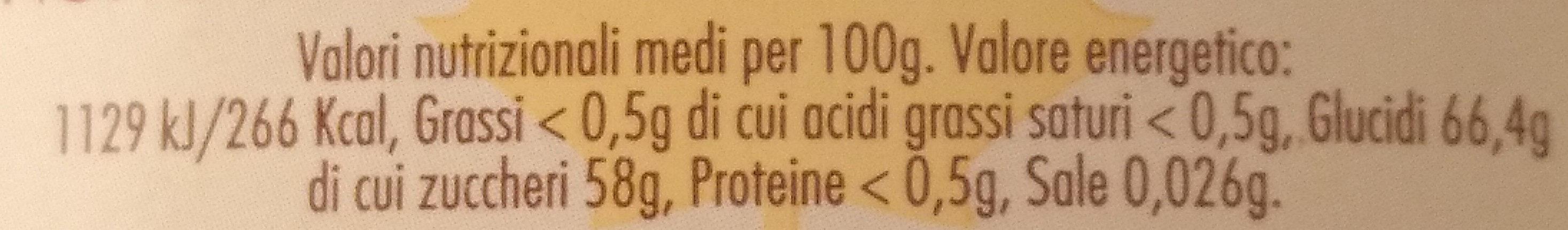 Pur sirop d'érable - حقائق غذائية - it