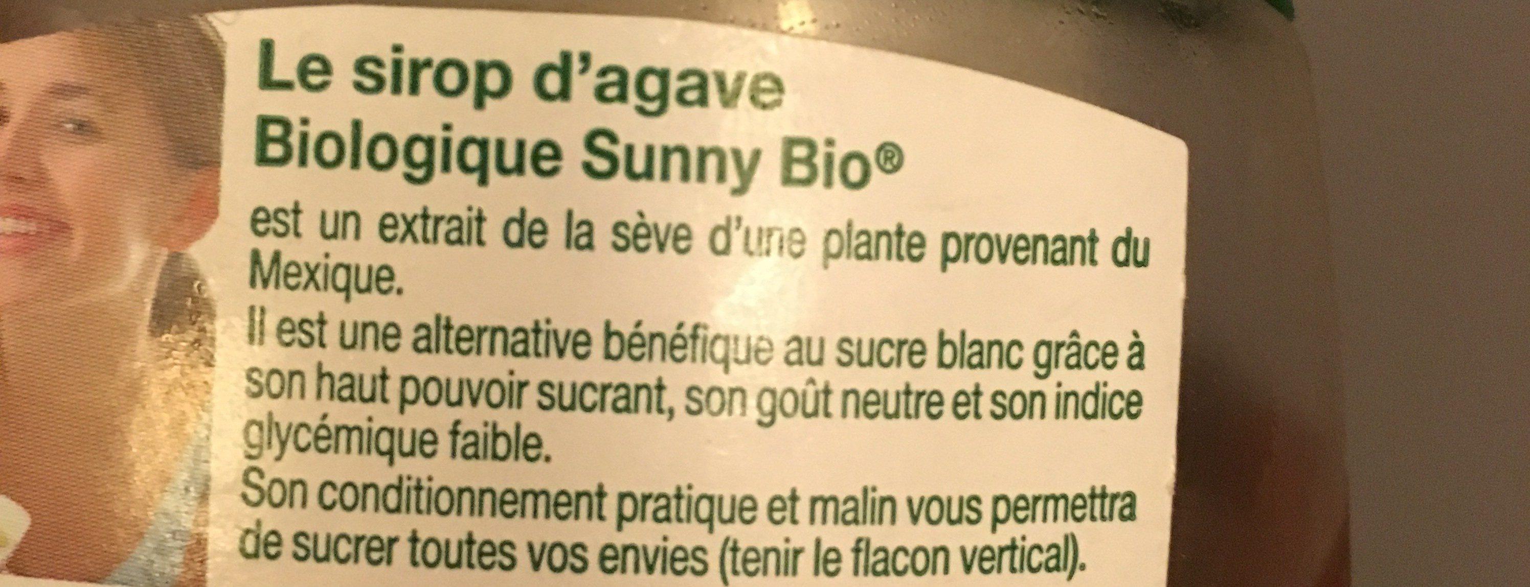 Sirop d'agave - Ingrédients