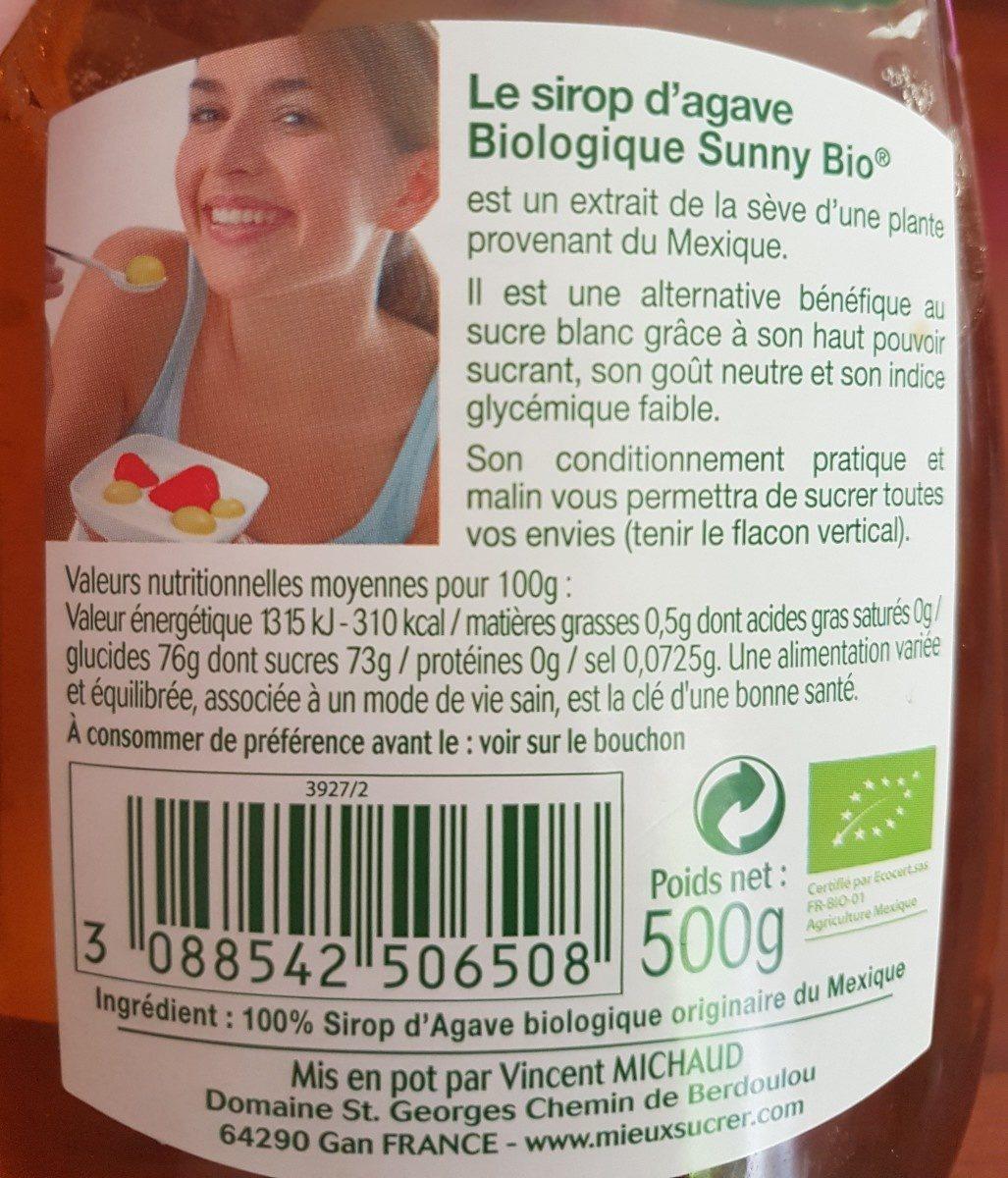 Sirop d'agave - Ingrediënten - fr