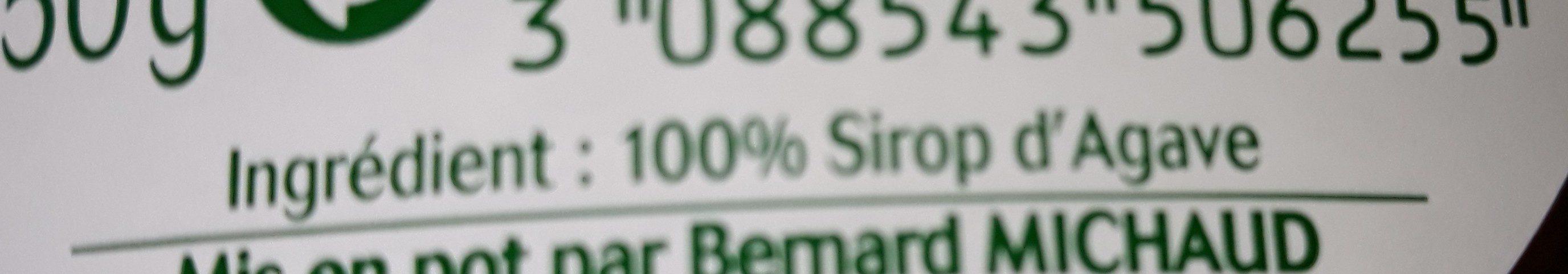 Sirop d'agave - Ingredients - fr