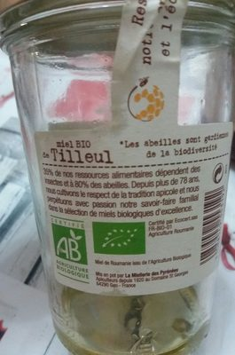 Miel Bio de Tilleul - Ingredients - fr