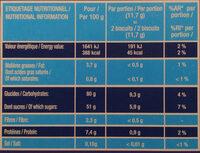 LE BOUDOIR - Informations nutritionnelles - fr