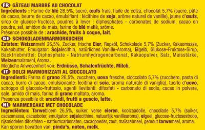 Savane Le Classique Chocolat - Ingrédients