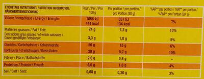 Savane Le Classique Chocolat - Nutrition facts - fr