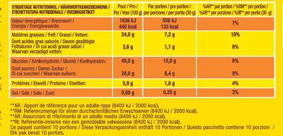 Savane Chocolat Noir - Informations nutritionnelles - fr