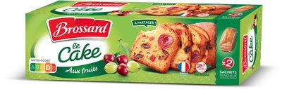 Brossard - le cake aux fruits 2x250gr - Product - fr