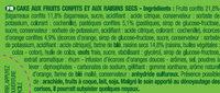 Brossard - le cake aux fruits 2x250gr - Ingrediënten - fr