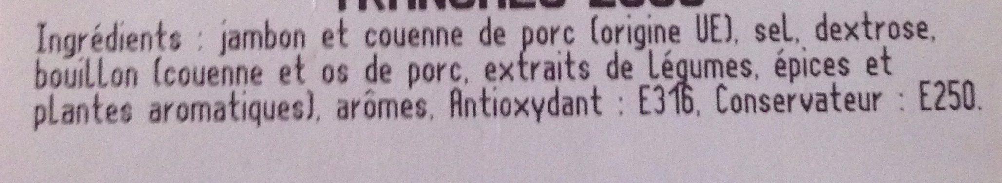 Jambon cuit supérieur AC - Ingrediënten