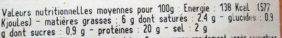Jambon cuit supérieur AC - Nutrition facts - fr