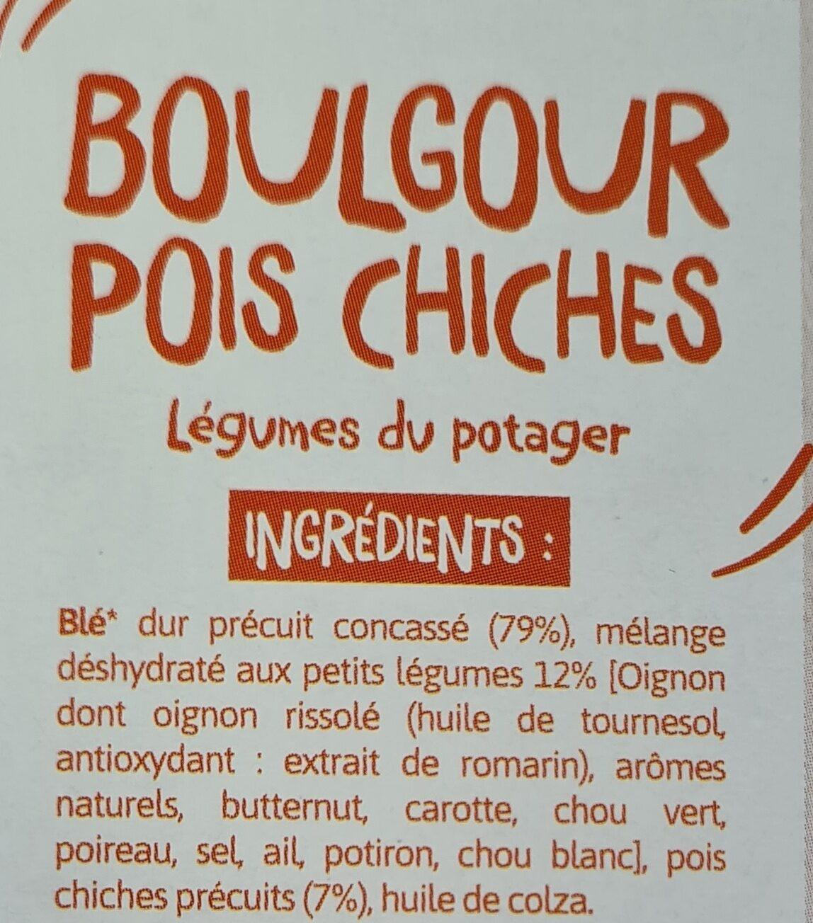 Boulgour & Pois chiches Légumes du potager - Ingredients - fr