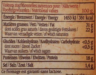 Le Vieux Pané - Informations nutritionnelles - fr