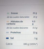 Figura queso tiernom.g. lonchas suaves y cremosas - Informations nutritionnelles - es